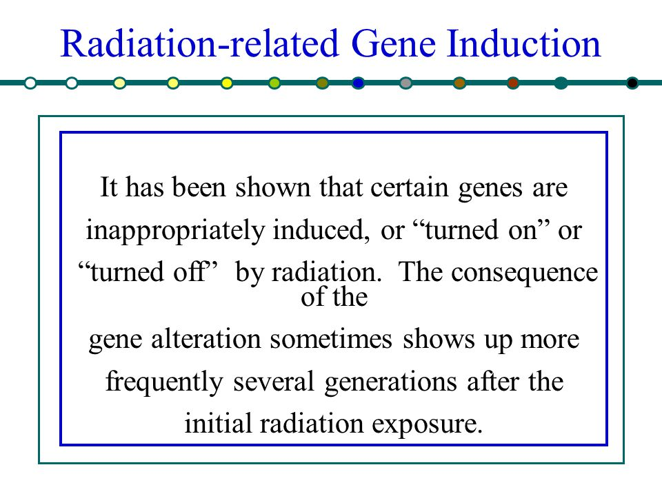 Radiation-related Gene Induction