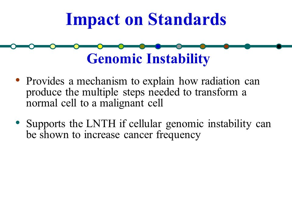 Impact on Standards Genomic Instability