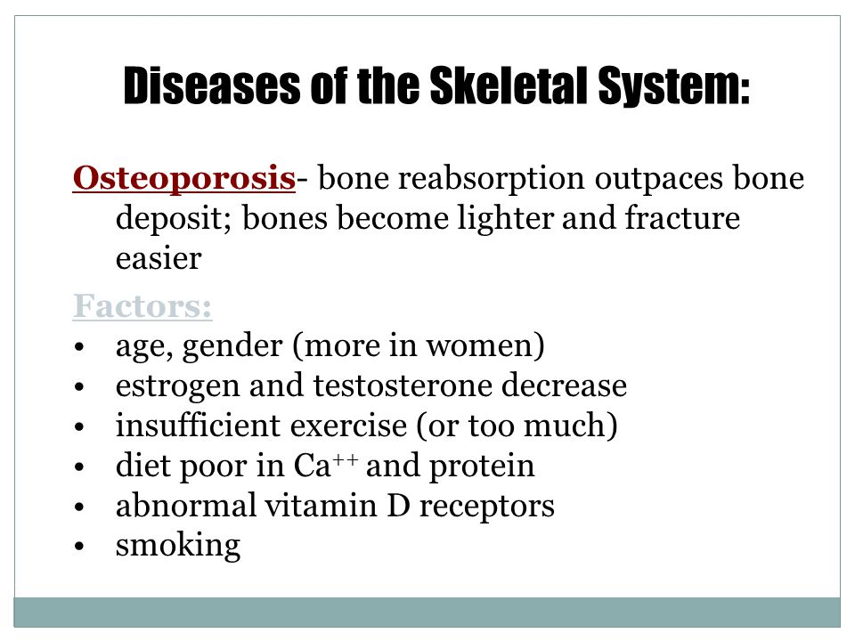 Diseases of the Skeletal System: