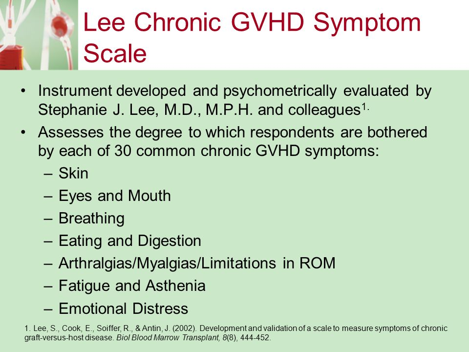 Lee Chronic GVHD Symptom Scale