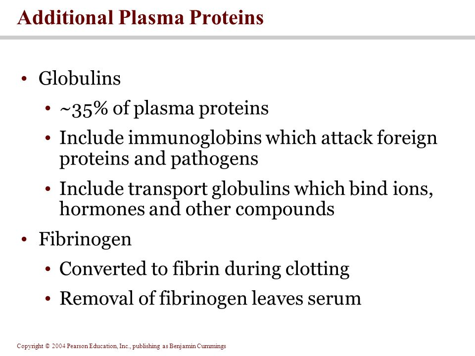 Additional Plasma Proteins