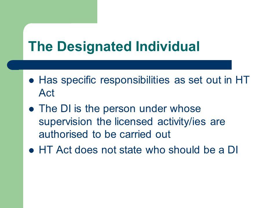 The Designated Individual