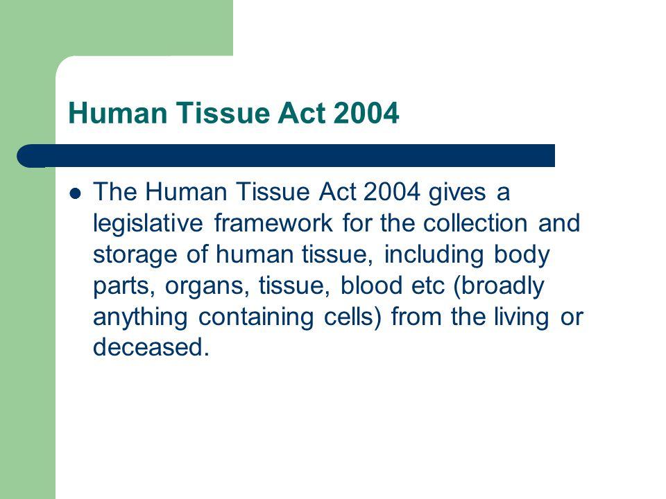 Human Tissue Act 2004