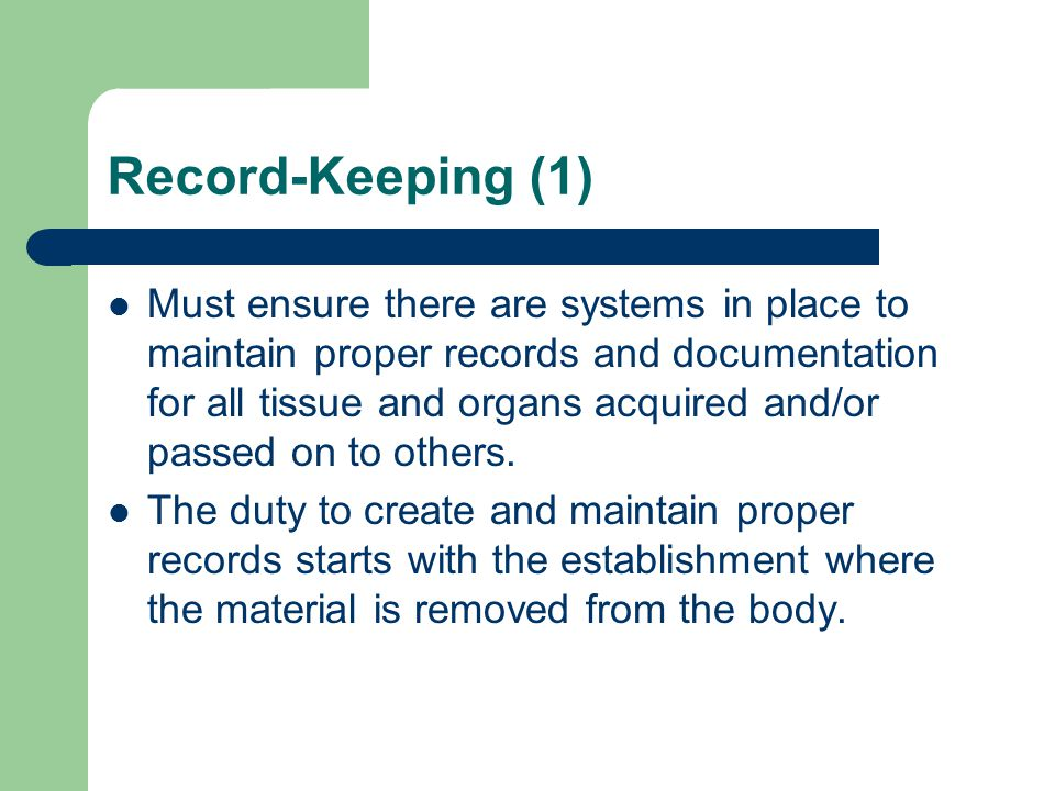 Record-Keeping (1)