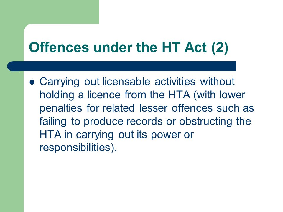 Offences under the HT Act (2)