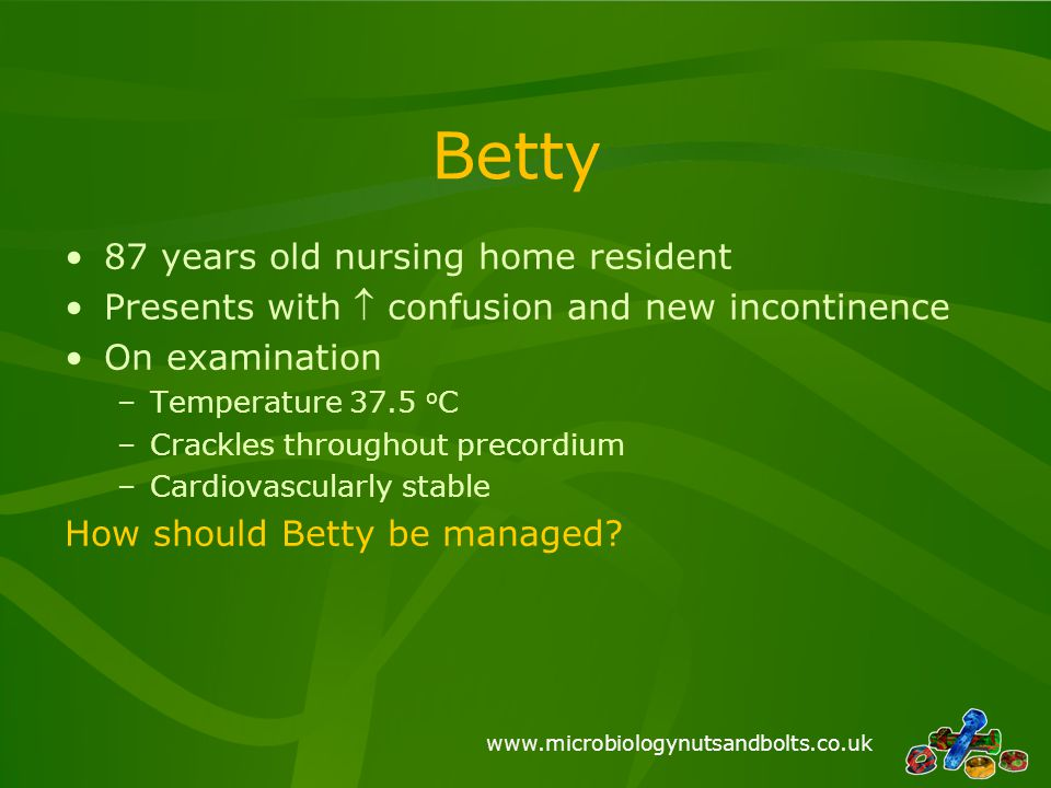 Betty 87 years old nursing home resident