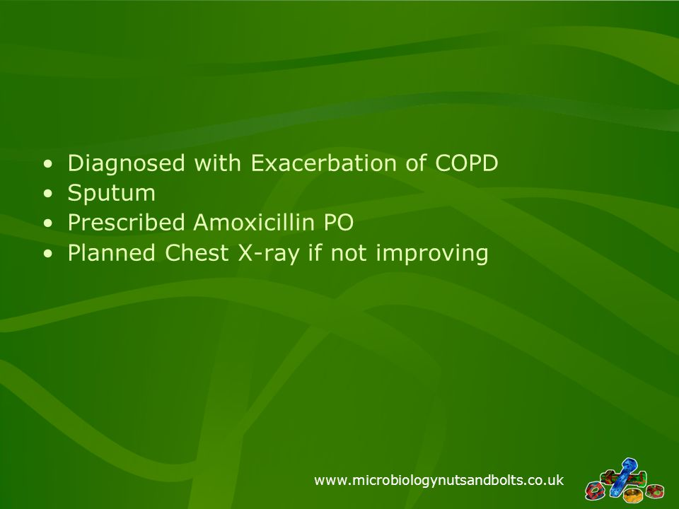 Diagnosed with Exacerbation of COPD