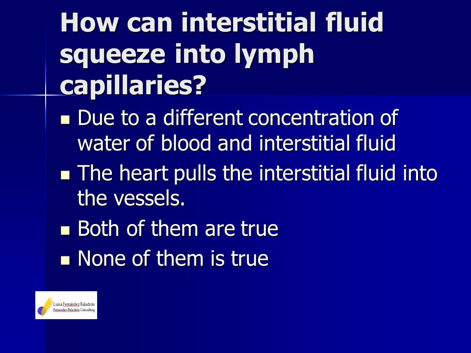 How can interstitial fluid squeeze into lymph capillaries