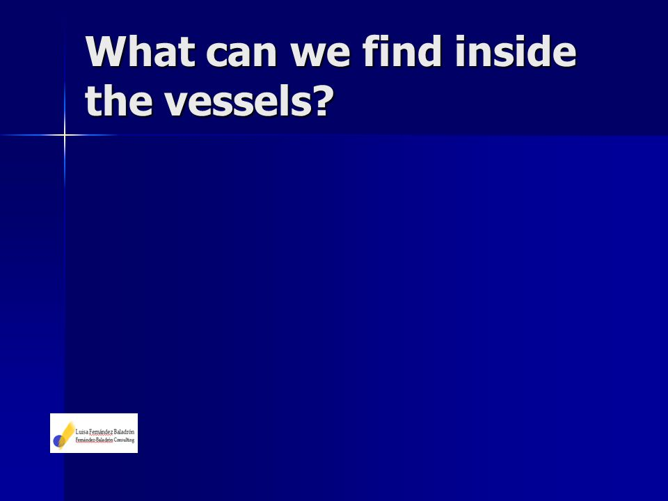 What can we find inside the vessels