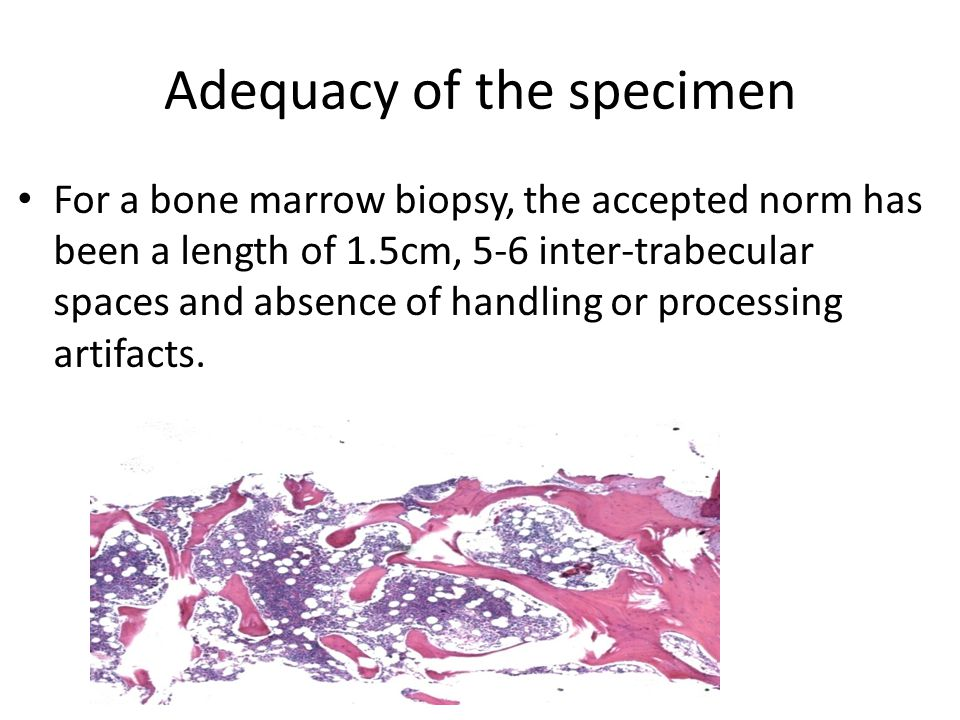 Adequacy of the specimen