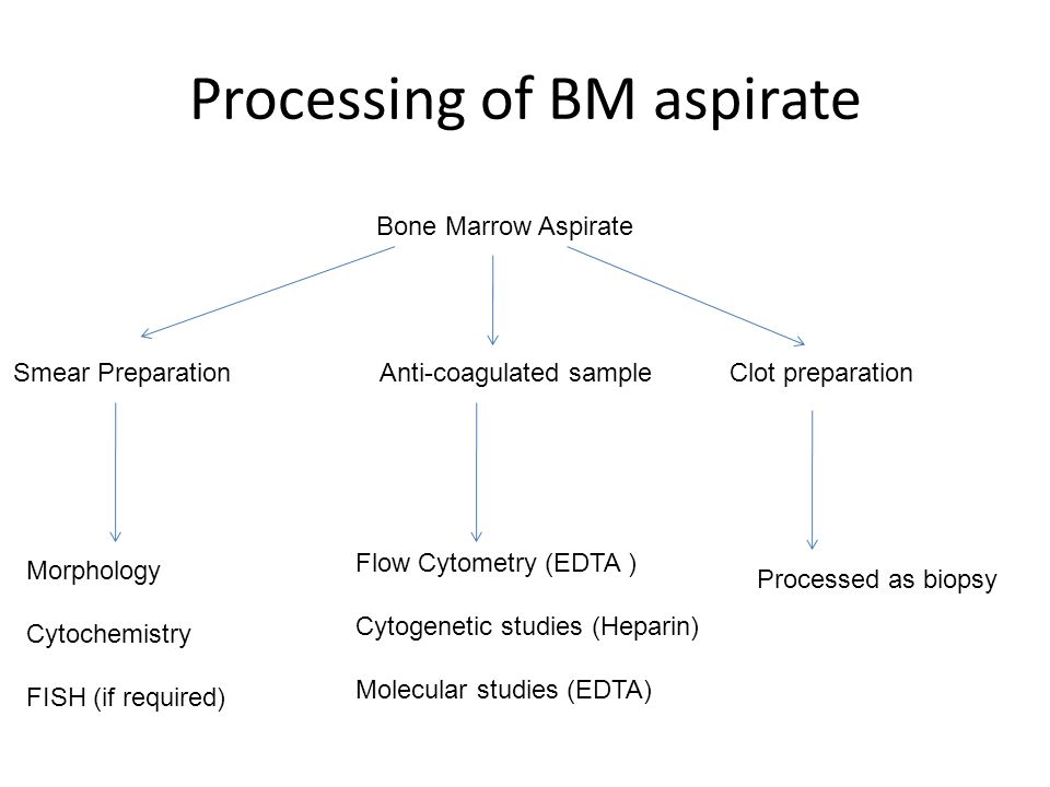 Processing of BM aspirate