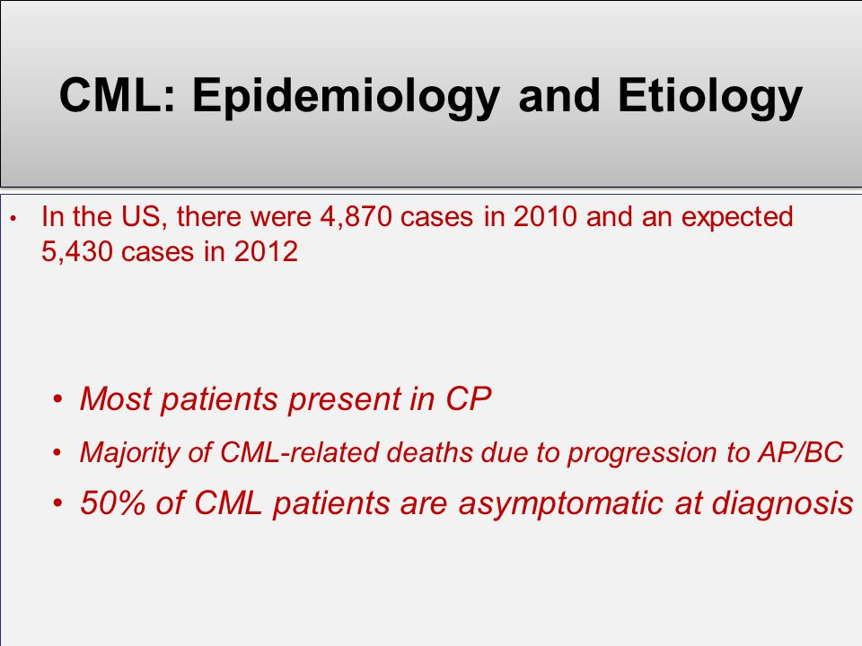 CML: Epidemiology and Etiology
