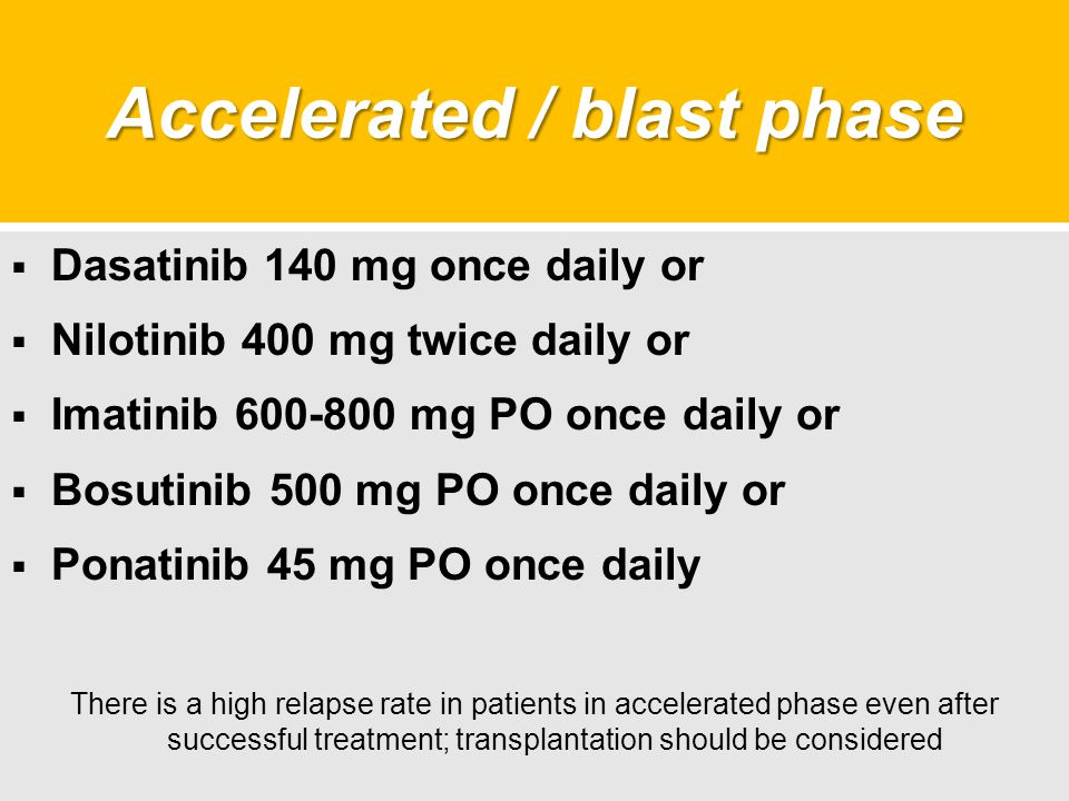 Accelerated / blast phase