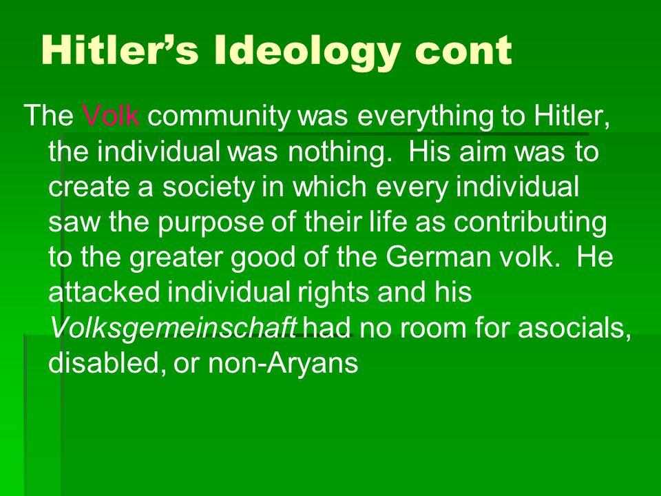 Hitler's Ideology cont