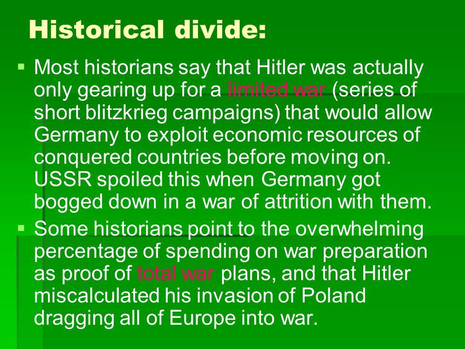 Historical divide: