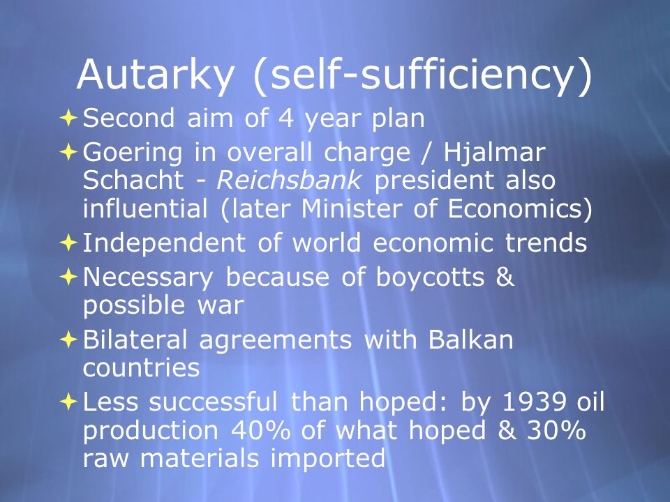 Autarky (self-sufficiency)
