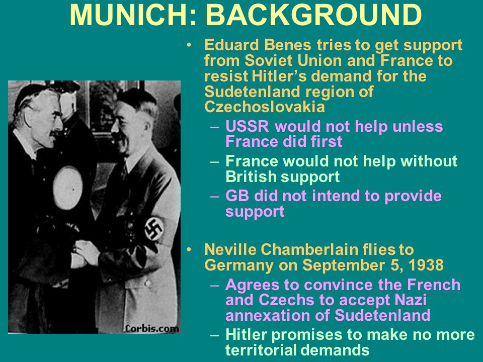 MUNICH: BACKGROUND