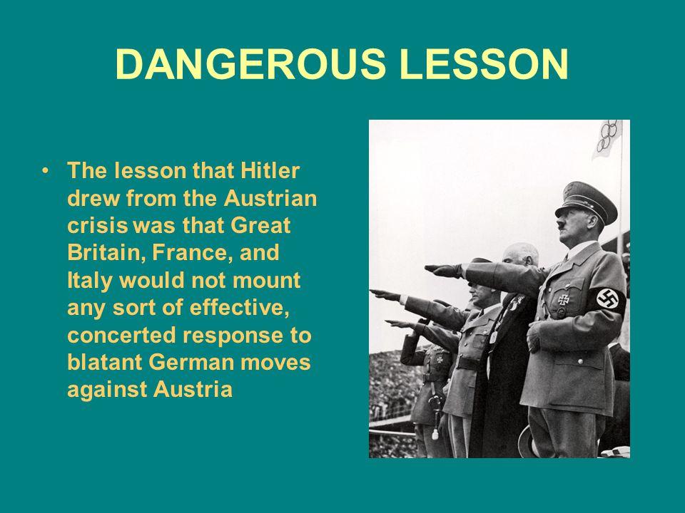 DANGEROUS LESSON