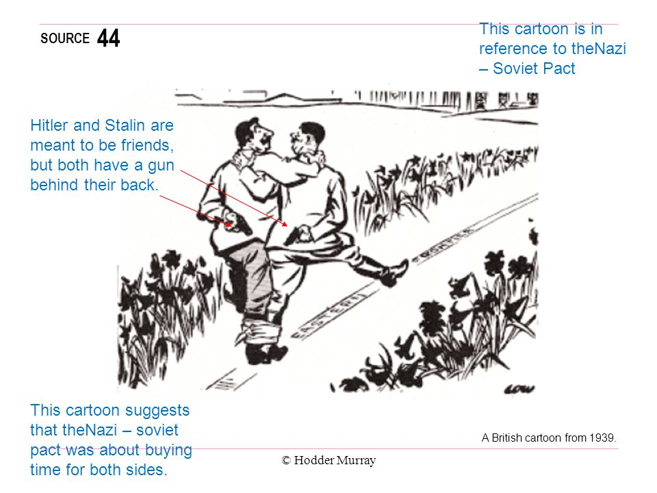 44 This cartoon is in reference to theNazi – Soviet Pact