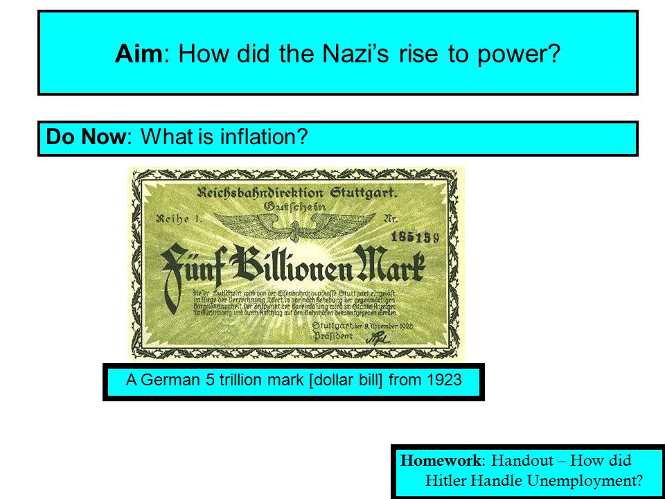 Aim: How did the Nazi's rise to power