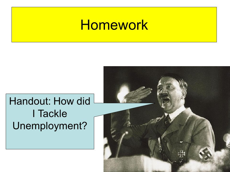 Handout: How did I Tackle Unemployment