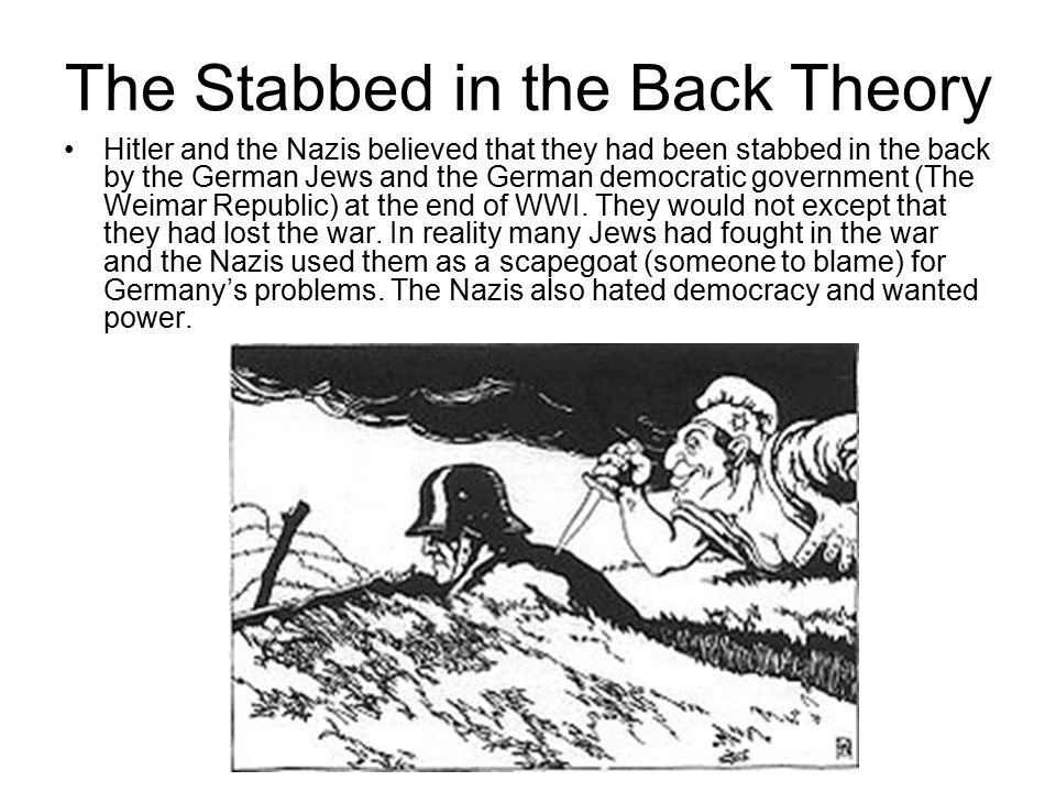 The Stabbed in the Back Theory