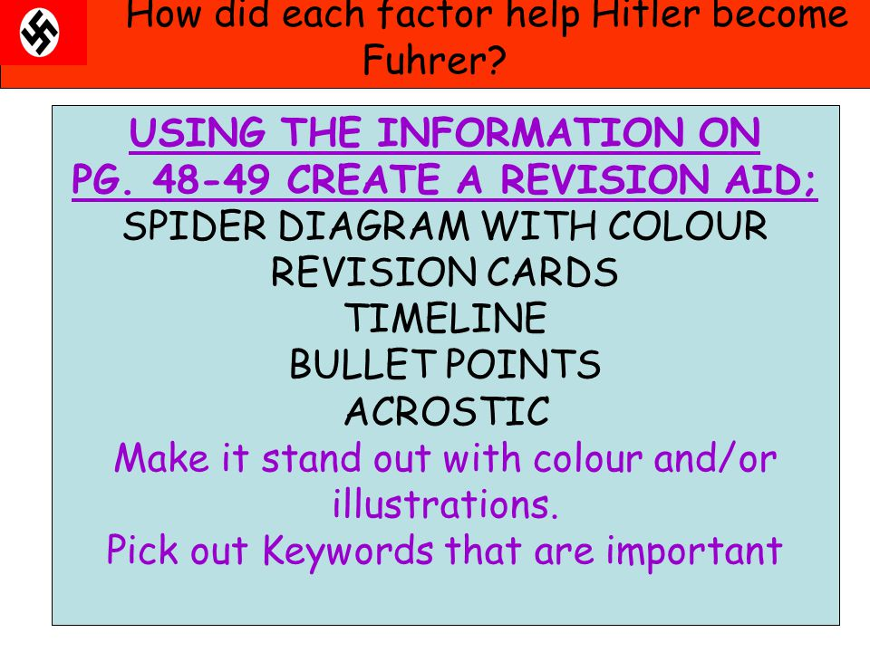 USING THE INFORMATION ON PG. 48-49 CREATE A REVISION AID;