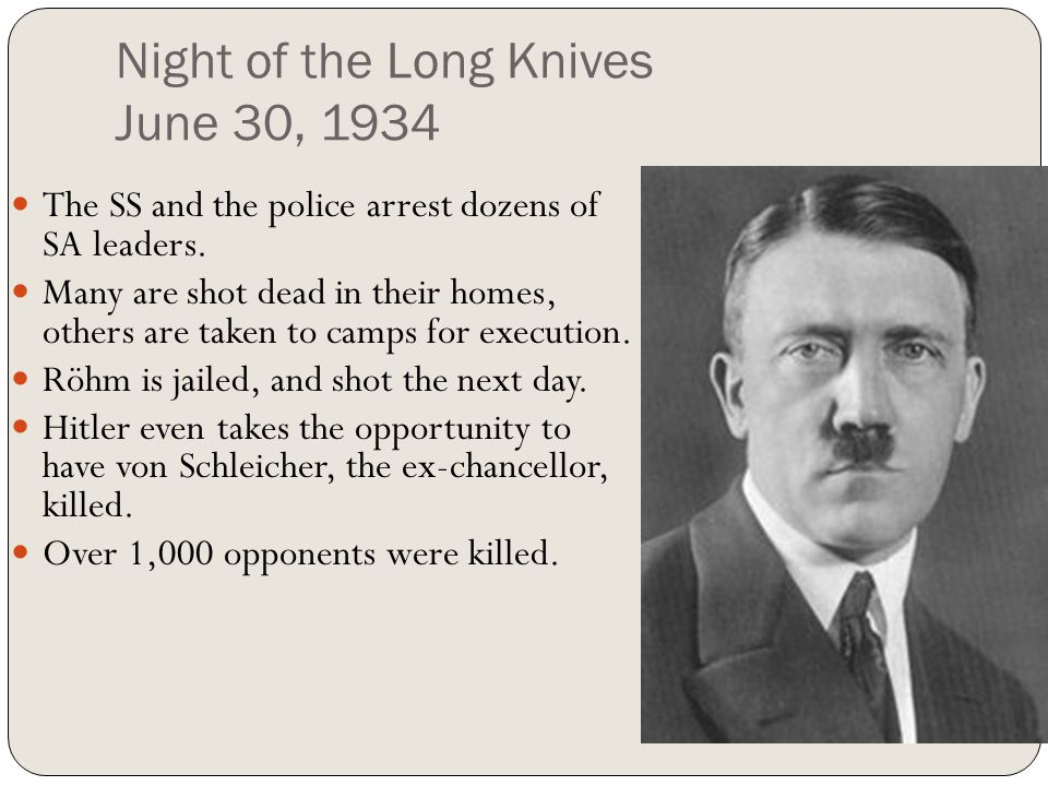 Night of the Long Knives June 30, 1934