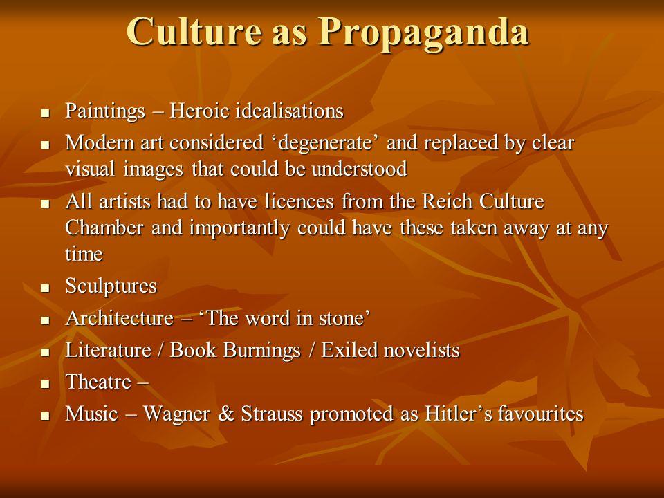 Culture as Propaganda Paintings – Heroic idealisations