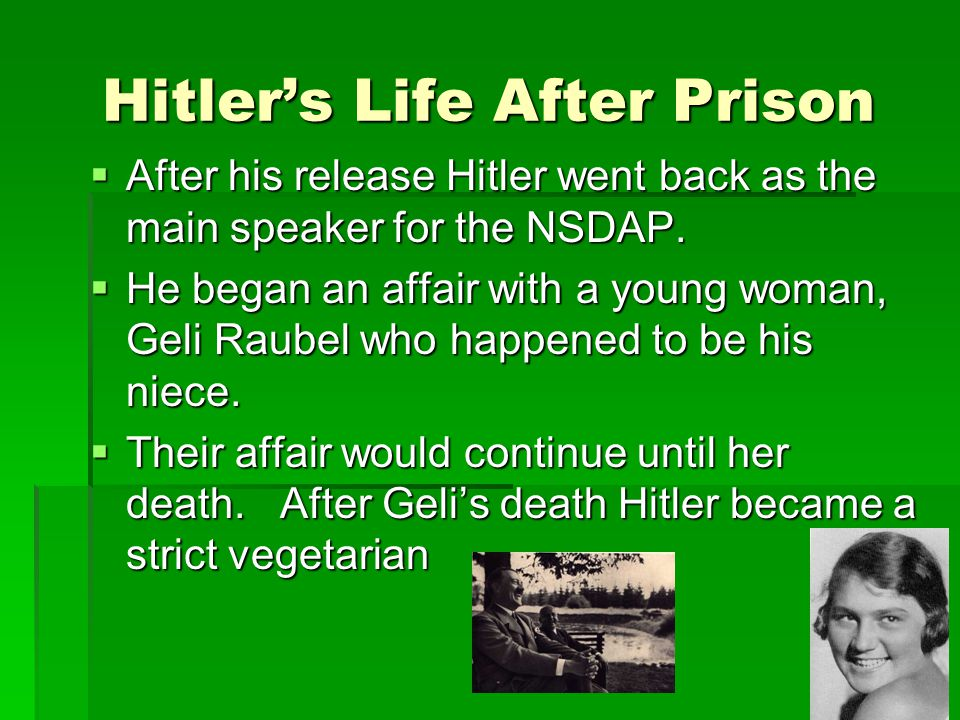 Hitler's Life After Prison