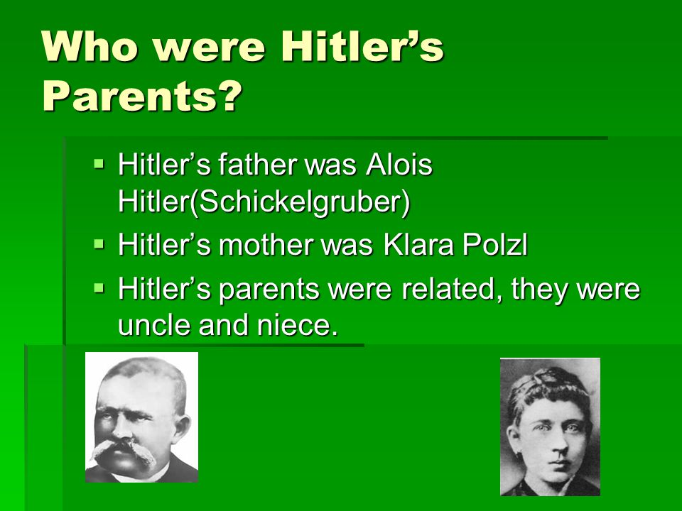 Who were Hitler's Parents