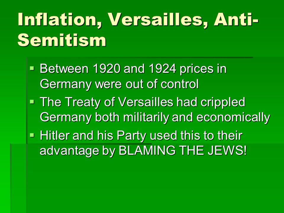 Inflation, Versailles, Anti-Semitism