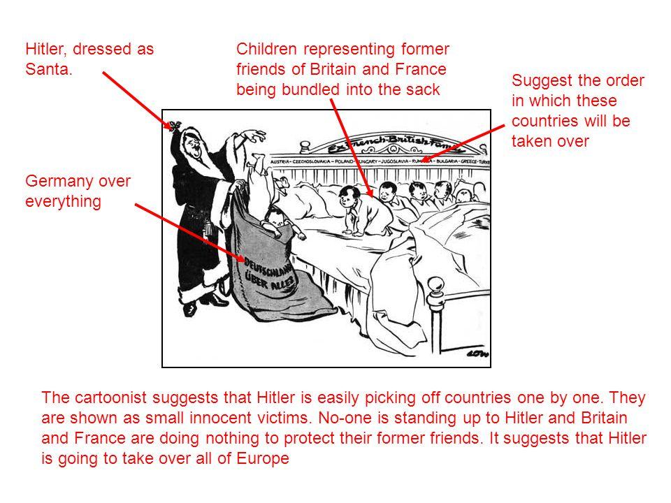 Hitler, dressed as Santa.