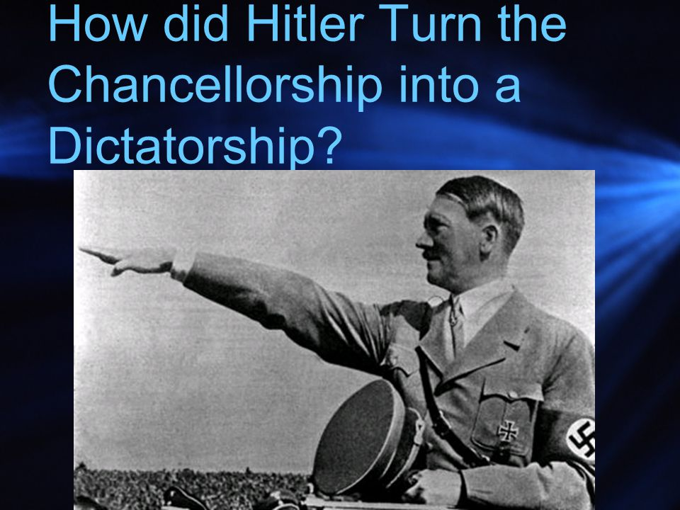 How did Hitler Turn the Chancellorship into a Dictatorship