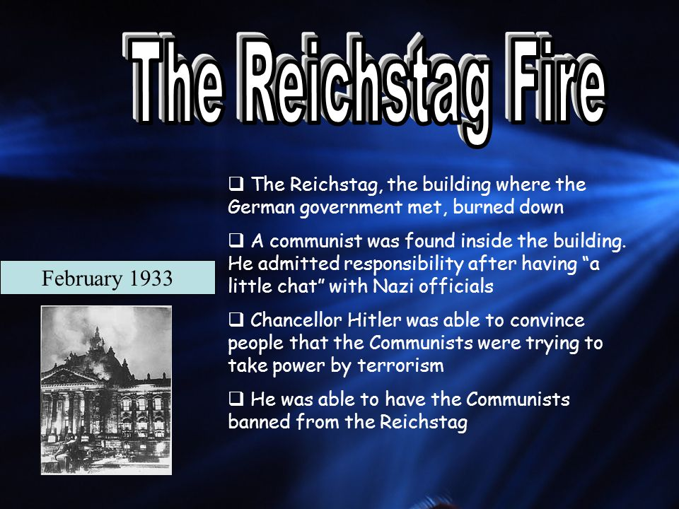 The Reichstag Fire February 1933
