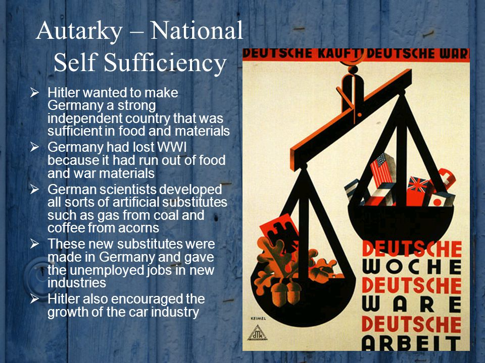 Autarky – National Self Sufficiency