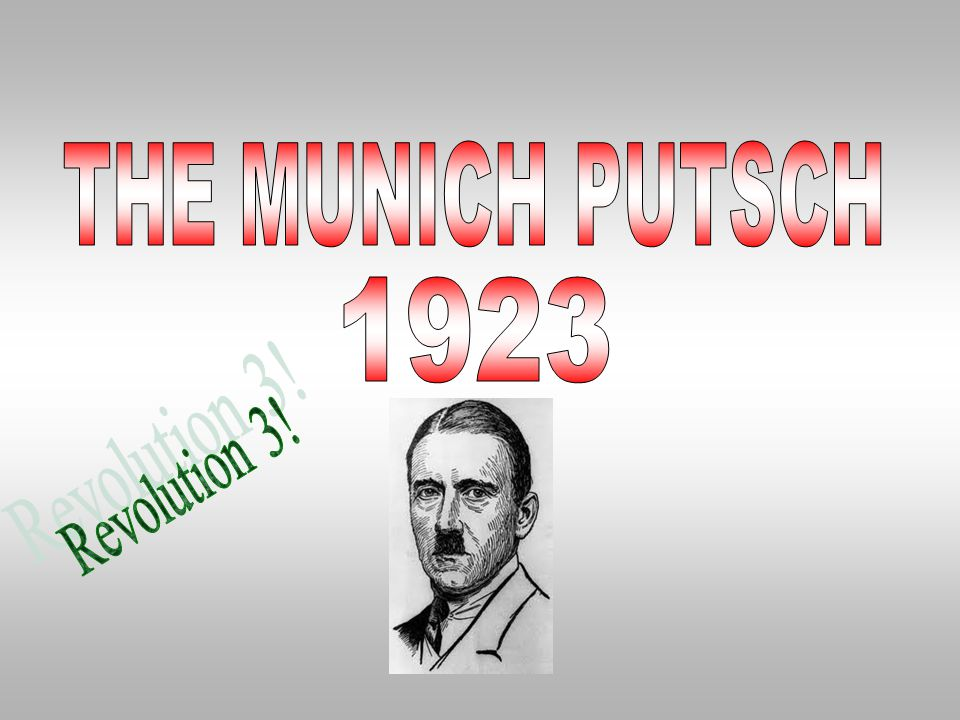 THE MUNICH PUTSCH 1923 Revolution 3!