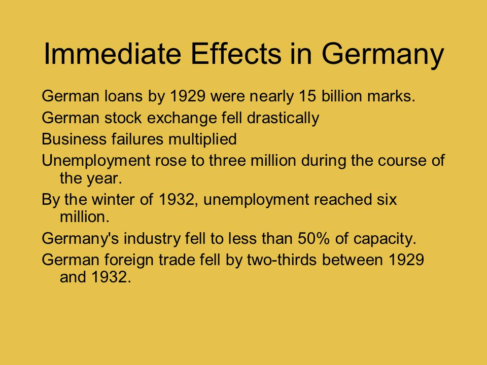 Immediate Effects in Germany