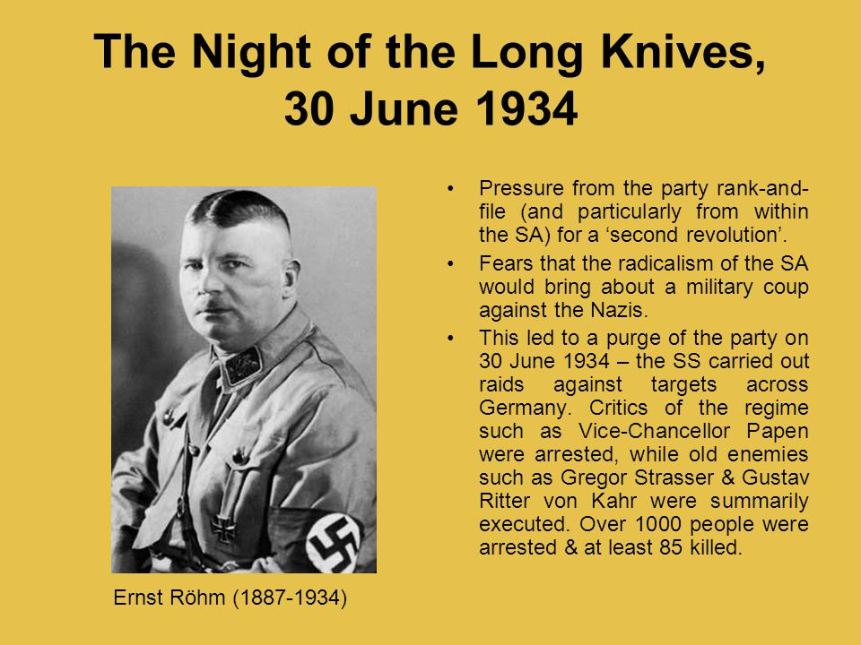 The Night of the Long Knives, 30 June 1934
