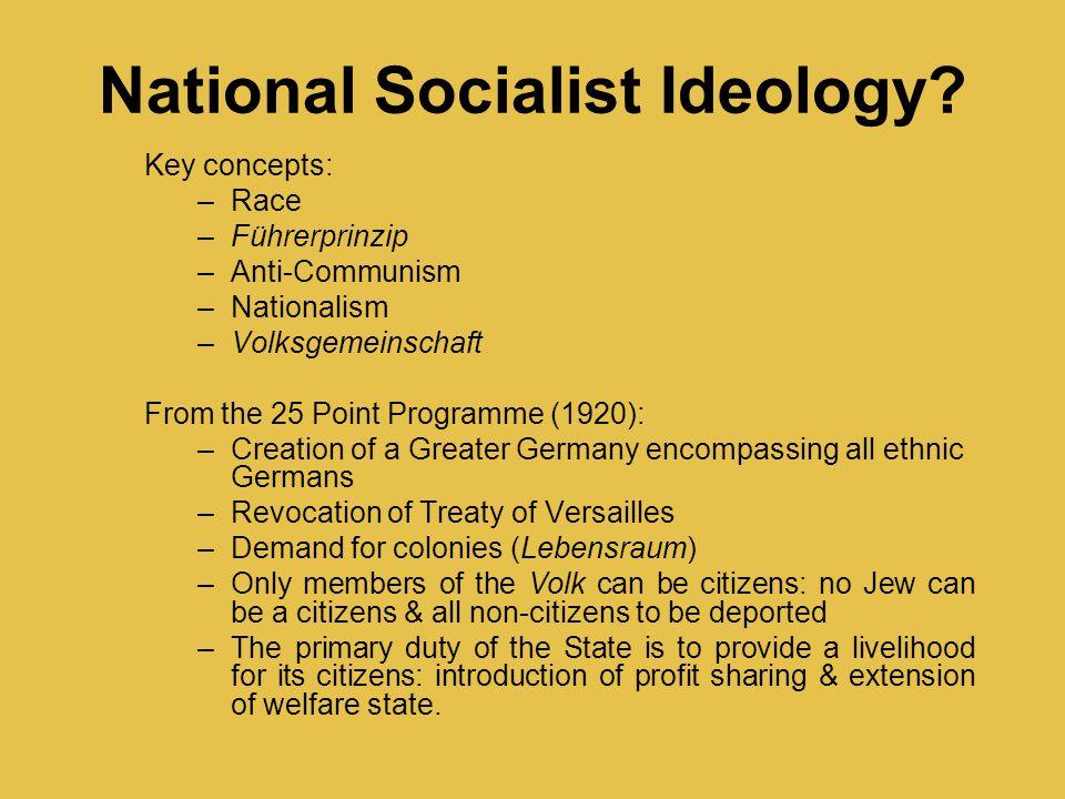 National Socialist Ideology