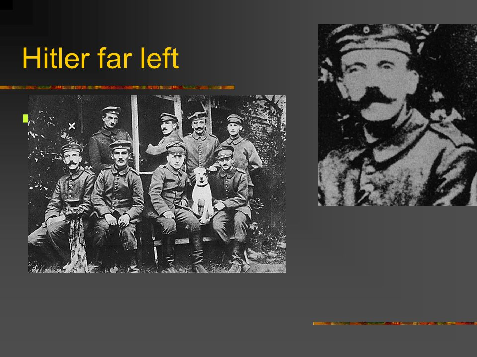 Hitler far left