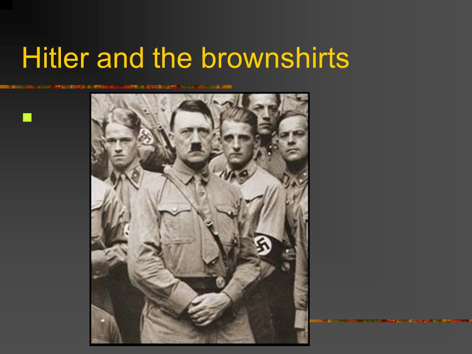 Hitler and the brownshirts