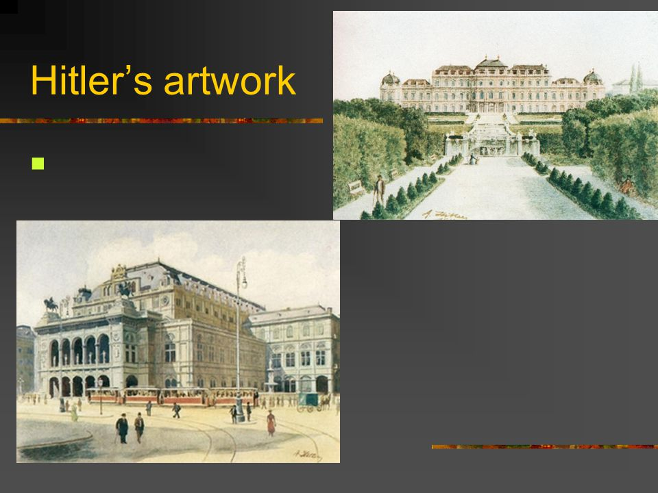 Hitler's artwork