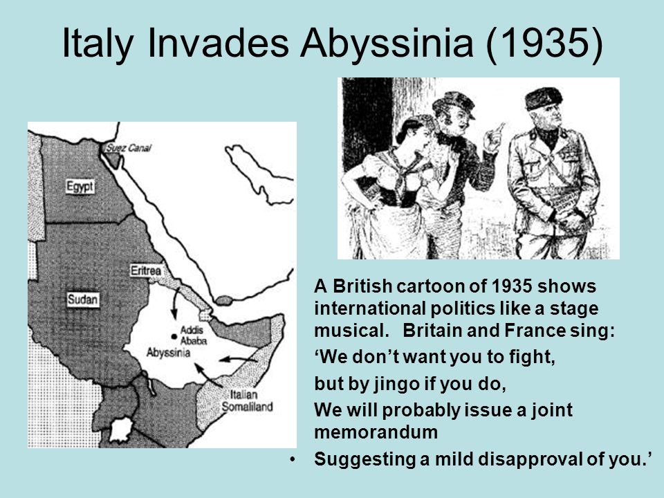 Italy Invades Abyssinia (1935)