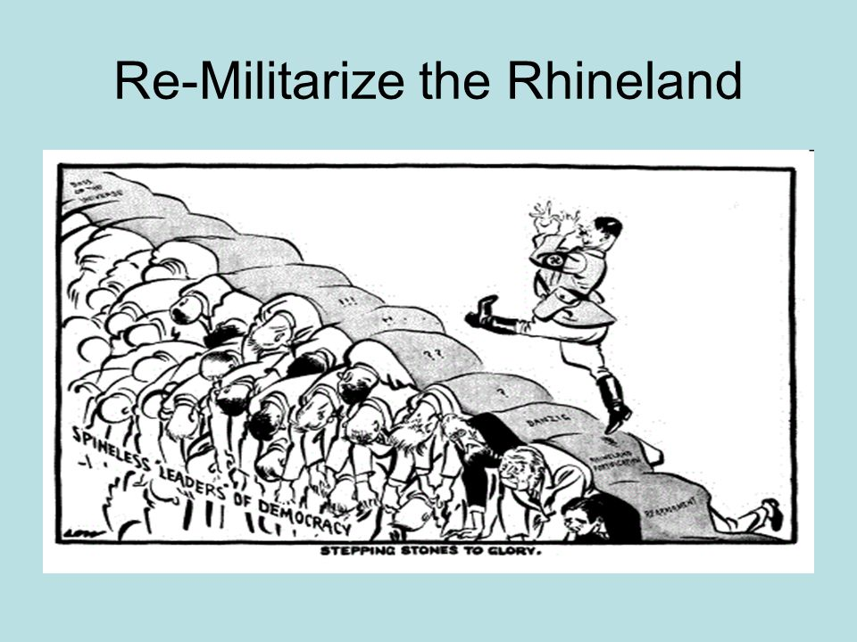 Re-Militarize the Rhineland