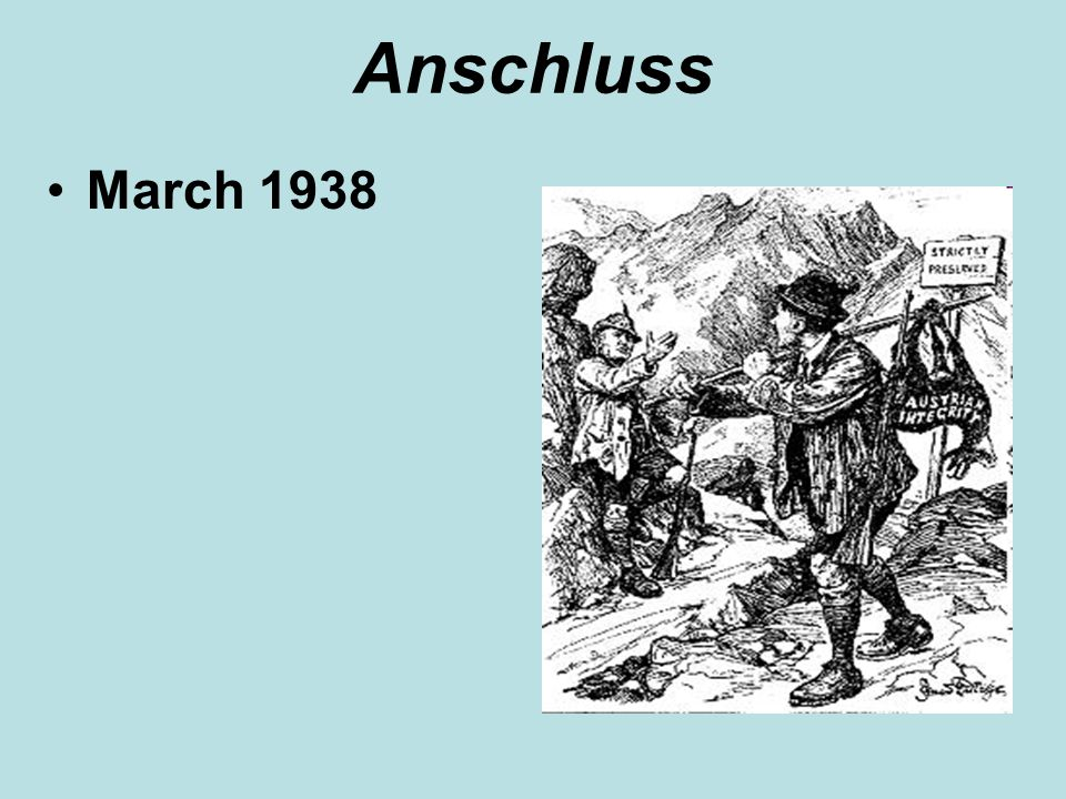 Anschluss March 1938