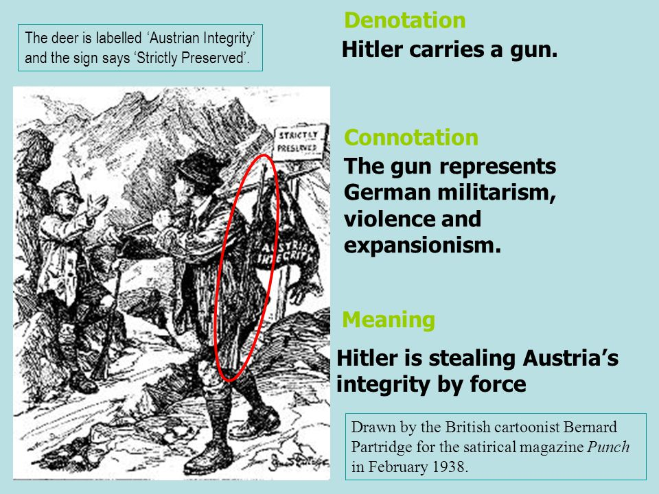 The gun represents German militarism, violence and expansionism.