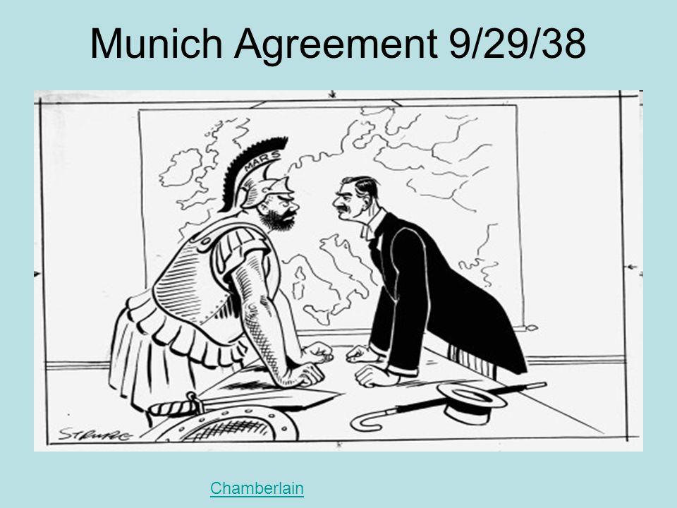 Munich Agreement 9/29/38 Chamberlain