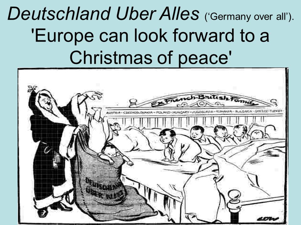 Deutschland Uber Alles ('Germany over all')
