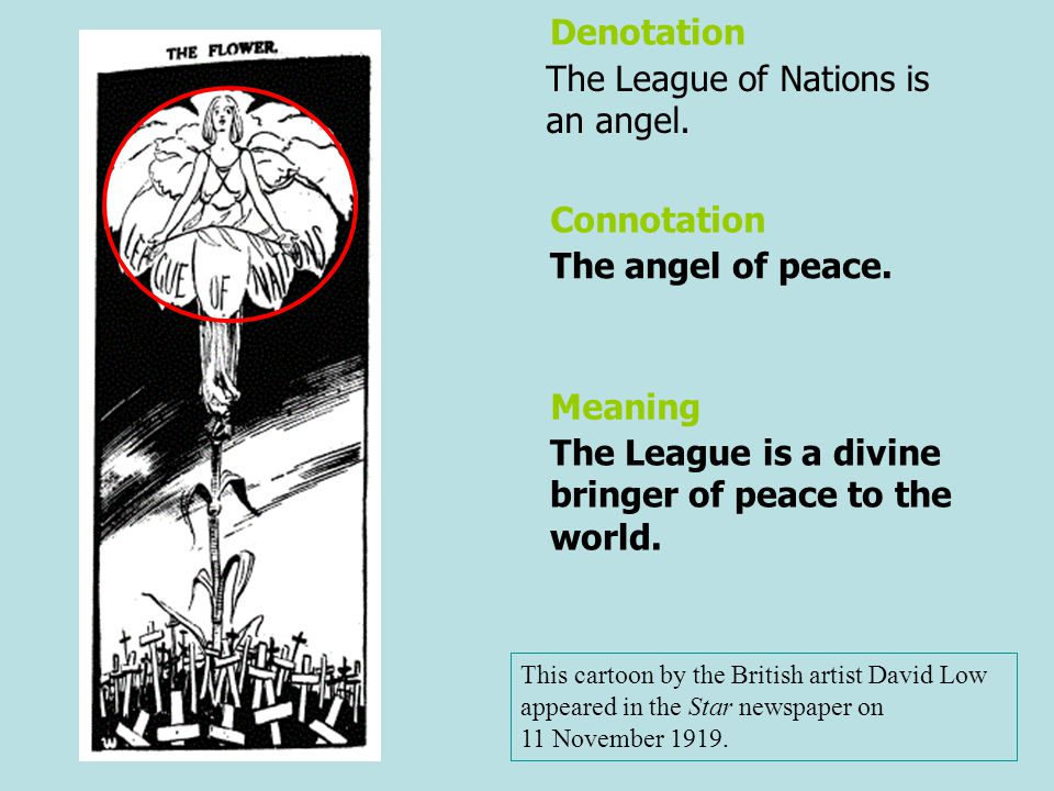 The League of Nations is an angel.